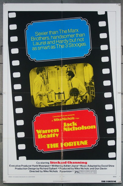 FORTUNE, THE (1975) 27172 Original Fox 1974 Release One Sheet Poster (27x41).