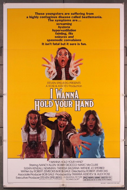 I WANNA HOLD YOUR HAND (1978) 27212 Original Universal 1978 Release One Sheet Poster (27x41) Directed by Robert Zemeckis