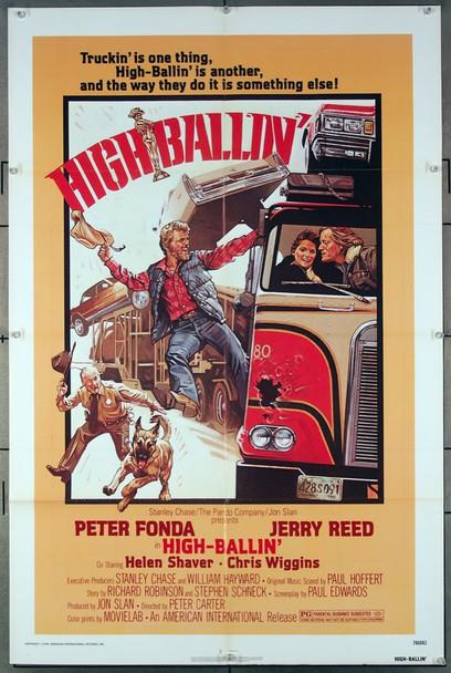 HIGH-BALLIN' (1978) 12138 American International Original One-Sheet Poster (27x41) Folded  Very Fine Condition