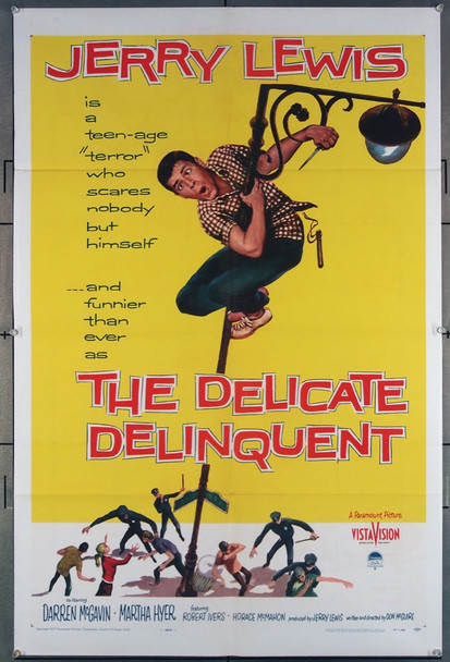 DELICATE DELINQUENT, THE (1957) 9453 Paramount Pictures Original One-Sheet Poster (27x41) Folded  Fine Plus Condition