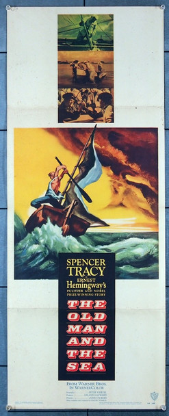 OLD MAN AND THE SEA, THE (1958) 10059 Original Warner Brothers 1958 Insert (14x36) Directed by John Sturges and Starring Spencer Tracy