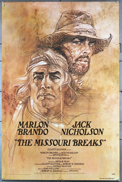 MISSOURI BREAKS, THE (1976) 27258 United Artists Original One-Sheet Poster (27x41) Folded  Very Good Condition
