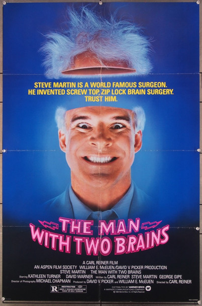 MAN WITH TWO BRAINS, THE (1983) 27248 Warner Brothers Original One-Sheet Poster (27x41) Folded  Very Fine Condition