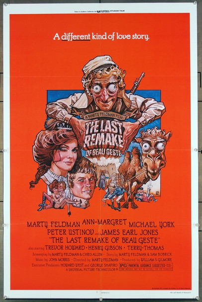 LAST REMAKE OF BEAU GESTE, TRHE (1977) 27231 Original Universal 1977 Release One Sheet Poster (27x41) Directed by and starring Marty Feldman