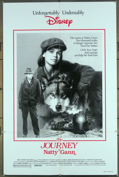 JOURNEY OF NATTY GANN, THE (1985) 27221 An original Buena Vista Distribution 1985 Release One Sheet Poster (27x41) Directed by Jeremy Kagan and starring John Cusack and introducing Meredith Salenger.