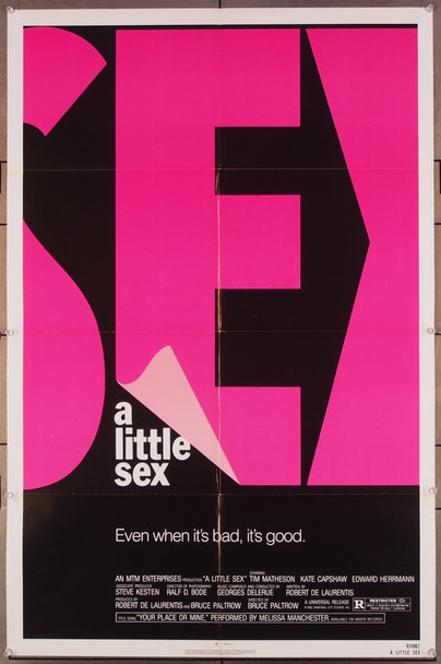LITTLE SEX, A (1982) 27238 An original Universal 1982 Release One Sheet Poster (27x41) Directed by Bruce Paltrow and starring Kate Capshaw and Tim Matheson