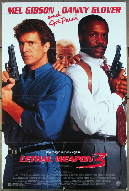 LETHAL WEAPON 3 (1992) 27236 An original Warner Brothers 1992 Release One Sheet Poster (27x41) Directed by Richard Donner and starring Mel Gibson, Danny Glover and Rene Russo.