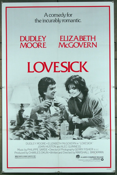 LOVESICK (1983) 27245 The Ladd Company 1983 Release One Sheet Poster (27x41) Directed by Marshall Brickman and starring Dudley Moore and Elizabeth McGovern.