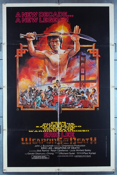WEAPONS OF DEATH, THE (1981) 27427 Asian Crush Original U.S. One-Sheet Poster (27x41) Folded  Very Good Condition