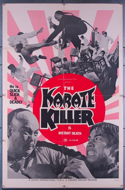 KARATE KILLER, THE (1973) 27412 United International Pictures One-Sheet Poster (27x41) Folded  Very Fine Condition