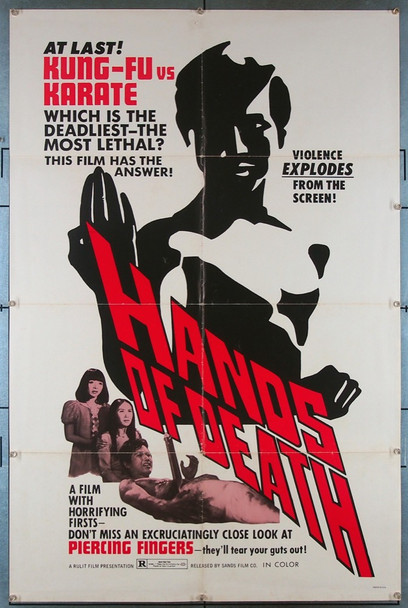 HANDS OF DEATH (1972) 27408 Sands Film Company Original U.S. One-Sheet Poster (27x41) Folded  Very Fine Condition