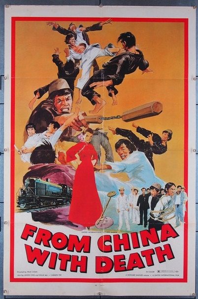 FROM CHINA WITH DEATH (1974) 27406 United International Pictures Original U.S. One-Sheet Poster (27x41) Folded  Very Fine Condition
