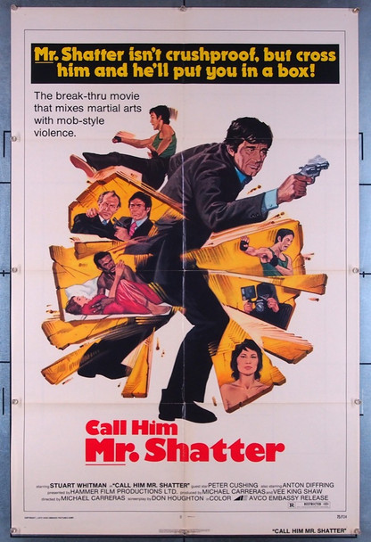 SHATTER (1974) 27464 Embassy Pictures Original U.S. One-Sheet Poster (27x41) Folded Very Good Plus to Fine Condition