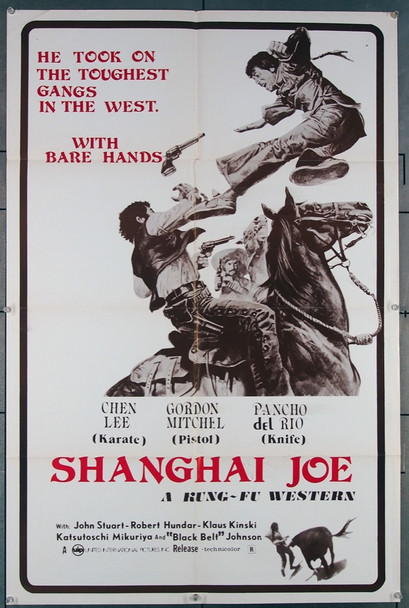 mio nome e shanghai joe, il   (1973) 27463 United International Pictures Original U.S. One-Sheet Poster (27x41) Folded Very Fine Condition