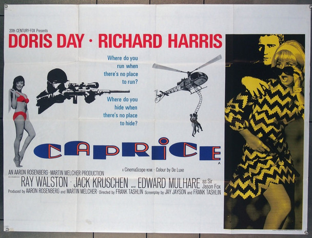 CAPRICE (1967) 4774 British 30x40 Quad Poster Folded  Fine Plus to Very Fine Condition