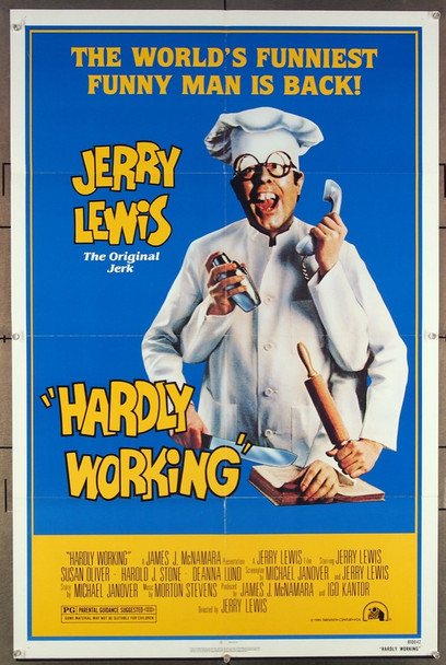 HARDLY WORKING (1981) 7758 20th Centuiry Fox Original One-Sheet Poster (27x41) Folded  Very Fine Condition