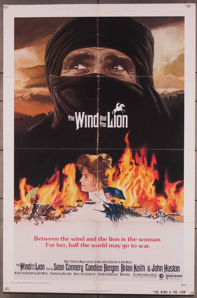WIND AND THE LION, THE (1975) 7757 MGM Original One-Sheet Poster (27x41) Folded  Very Good Condition