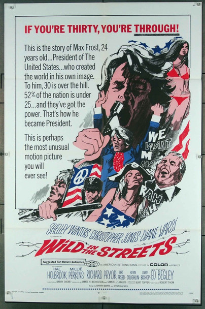 WILD IN THE STREETS (1968) 7755 American International Original One-Sheet Poster (27x41) Folded  Very Fine Condition