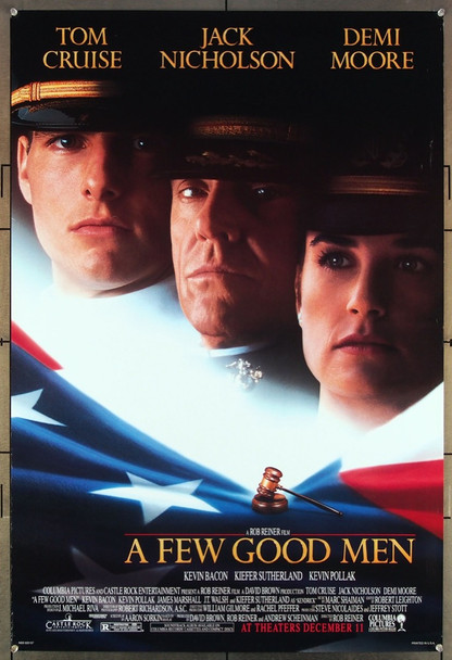 FEW GOOD MEN, A (1992) 26402 Original Columbia 1992 Release One Sheet Poster (27x41) Directed by Rob Reiner and starring Jack Nicholson, Tom Cruise and Demi Moore.