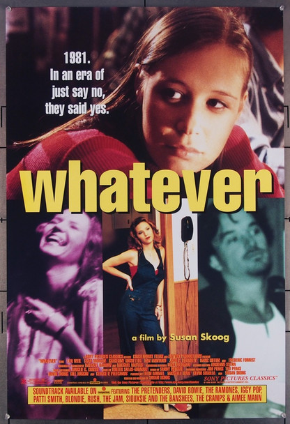 WHATEVER (1998) 26441 Sony Pictures Classics Original U.S. One-Sheet Poster  (27x41) Rolled  Very Fine Condition