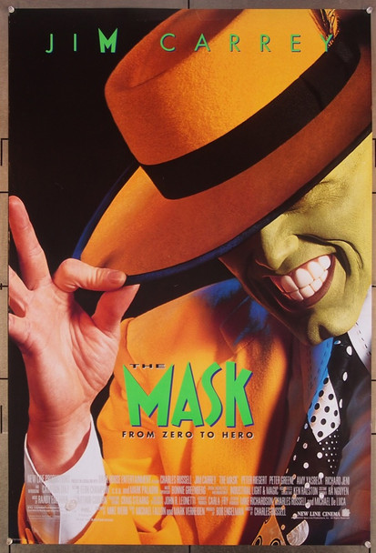 MASK, THE (1994) 26422 New Line Cinema Original One-Sheet Poster (27x41) Rolled  Double-Sided Very Fine Condition
