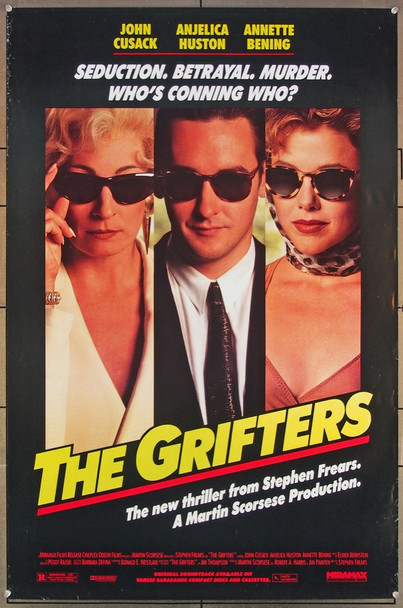 GRIFTERS, THE (1990) 26408 Miramax Original U.S. One-Sheet Poster (27x41) Rolled  Very Fine Condition