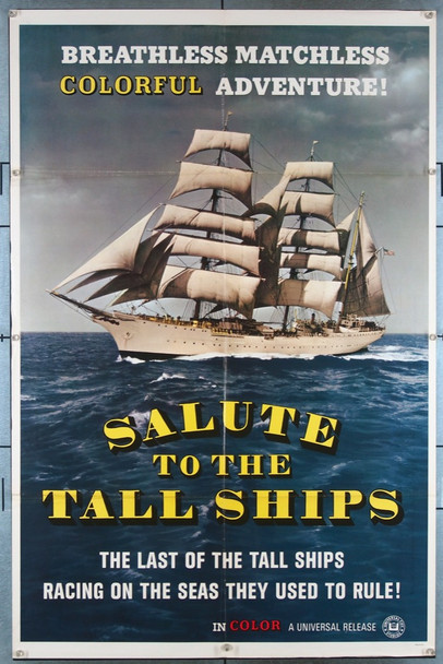 SALUTE TO THE TALL SHIPS (60'S) 3356 Universal Pictures Short Subject One-Sheet Poster (27x41) Folded  Very Fine Condition