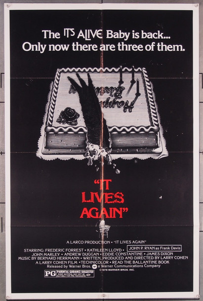 IT LIVES AGAIN (1978) 4270 Warner Brothers Original One-Sheet Poster (27x41) Folded  Very Fine Condition