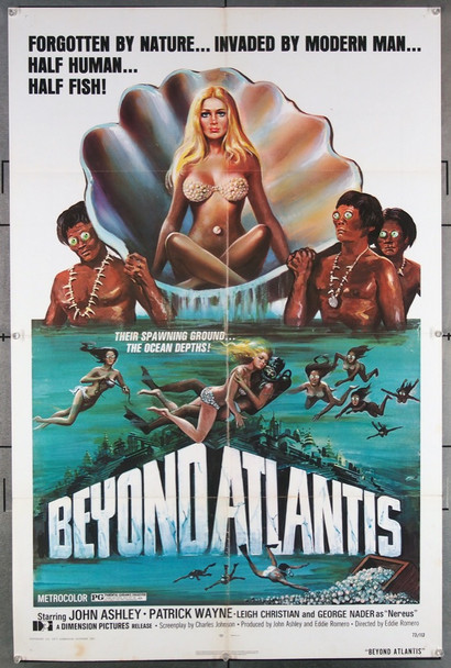 BEYOND ATLANTIS (1973) 4269 Dimension Pictures Original One-Sheet Poster (27x41) Folded  Fine Plus Condition