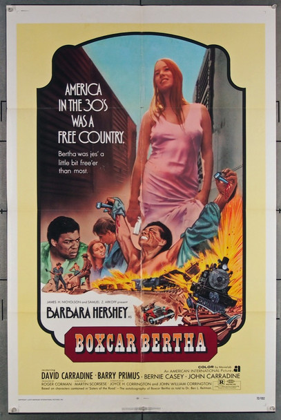 BOXCAR BERTHA (1972) 9323 American International Original One-Sheet Poster (27x41) Folded  Fine Plus Condition