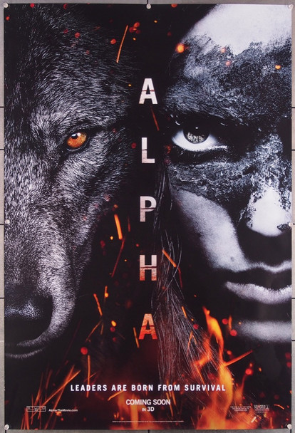 ALPHA (2018) 27475 Columbia Pictures Original One-Sheet Poster (27x40)  Advance Poster  Fine Plus Condition
