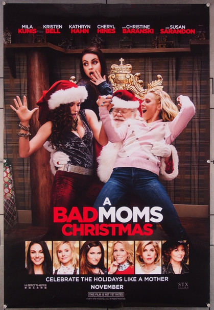 BAD MOMS CHRISTMAS, A (2017) 27477 STX Entertainment Original One-Sheet Poster (27x40) Rolled  Very Fine Condition