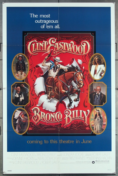 BRONCO BILLY (1980) 27129 Warner Brothers Original One-Sheet Poster  Advance Style  (27x41) Folded  Very Fine