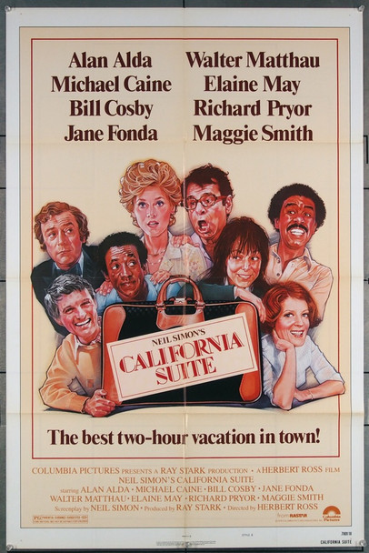 CALIFORNIA SUITE (1978) 27133 Columbia Pictures Original One-Sheet Poster (27x41) Folded  Very Fine Condition