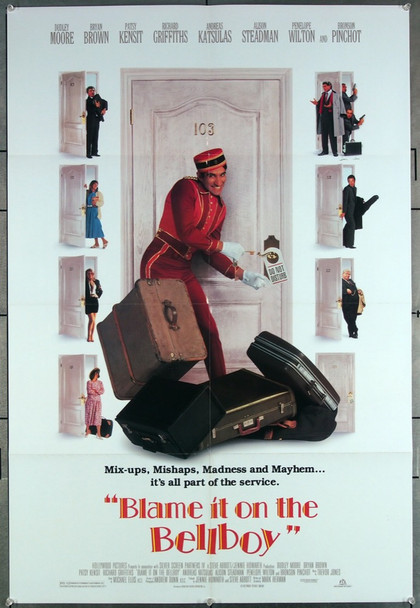 BLAME IT ON THE BELLBOY (1992) 27122 Original Buena Vista One Sheet Poster (27x41).  Folded.  Very Fine.