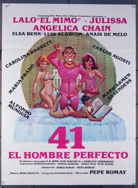 41 EL HOMBRE PERFECTO (1982) 27518 Cinematografica Roma S.A. Original Mexican 27x41 Movie Poster  Folded  Very Fine