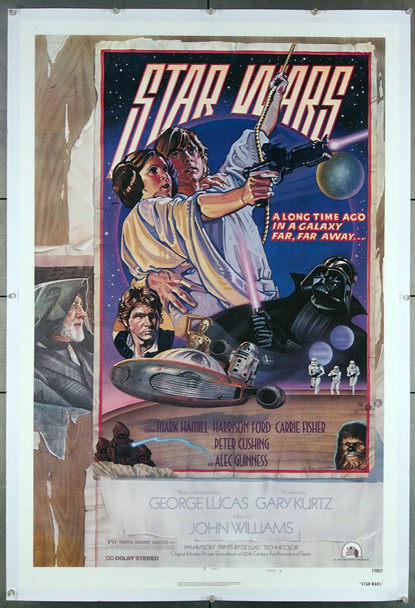 STAR WARS: EPISODE IV - A NEW HOPE (1977) 7138 20th Century Fox Original Style D One-Sheet Poster (27x41)  Linen Backed  Fine Plus Condition