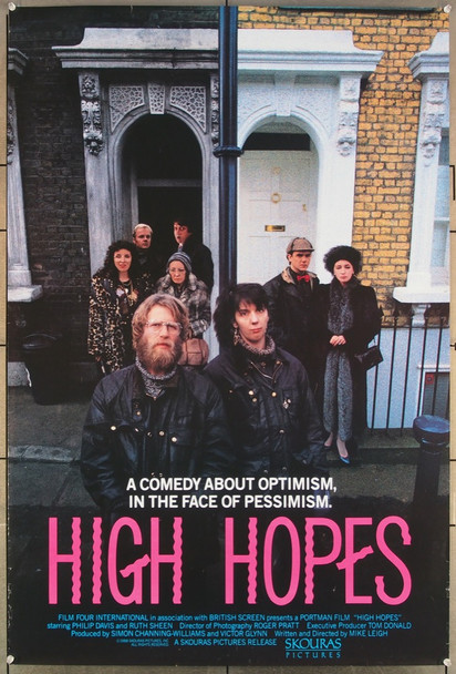 HIGH HOPES (1988) 26411 Palace Pictures Original One-Sheet Poster (27x41) Rolled  Very Fine Condition