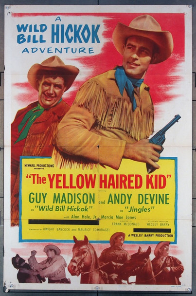 YELLOW HAIRED KID, THE (1952) 9370 Barry Productions Original One-Sheet Poster (27x41) Folded  Average Used Condition  Very Good