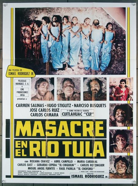 MASACRE EN EL RIO TULA (1985) 27521 Cine Producciones Original Mexican 27x38  Fine Condtion  Folded