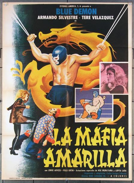 MAFIA AMARILLA, LA (1975) 27520 Estudios America Original Mexican 27x38 Poster  Folded  Very Fine Condition