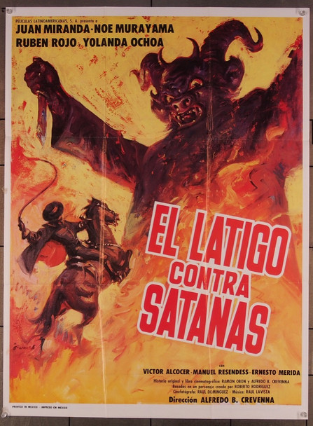 LATIGO CONTRA SATANAS, EL (1979) 27519 Peliculas Latinoamericanas Original Mexican Poster  26x36  Folded  Fine Plus Condition