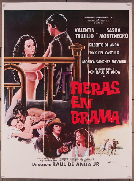 FIERAS EN BRAMA (1983) 27514 Cinematographica Intercontinental Original Mexican 28x38 Poster  Folded  Fine Plus Condition