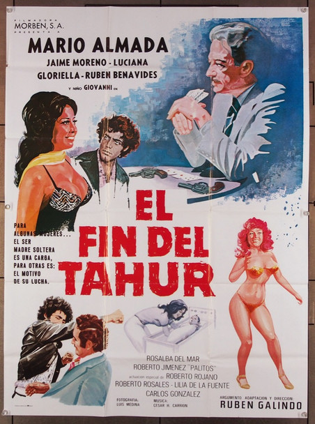 FIN DEL TAHUR, EL (1979) 27513 Morben S.A. Original Mexican Film Poster (28x38) Folded  Fine Plus Condition