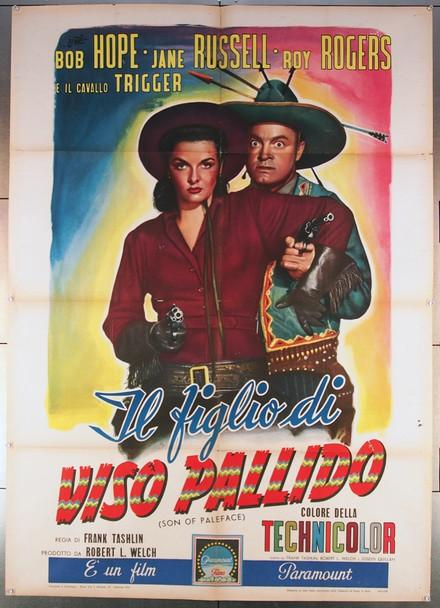 SON OF PALEFACE (1952) 27505 Paramount Pictures Original Italian 39x55  Folded  Fine Plus Condition