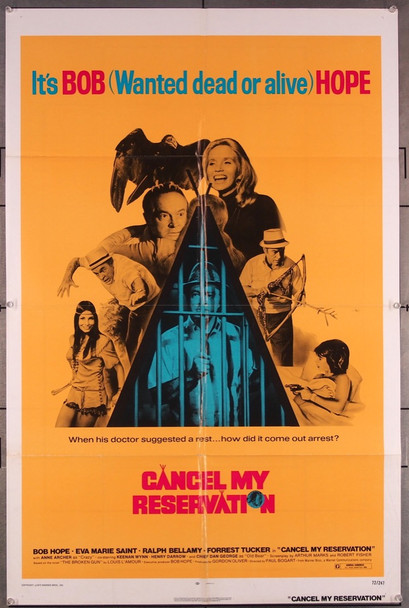 CANCEL MY RESERVATION (1972) 27134 Warner Brothers Original One-Sheet Poster (27x41) Folded  Very Fine