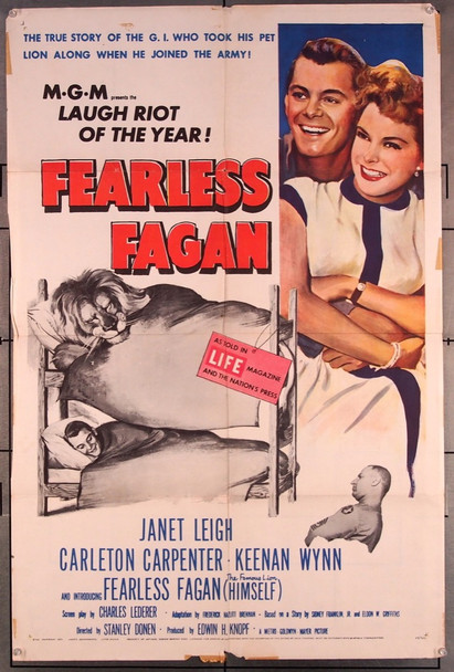 FEARLESS FAGAN (1952) 27540 MGM Original One-Sheet Poster (27x41) Folded  Good Condition