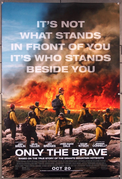 ONLY THE BRAVE (2017) 27492 Columbia Pictures Original One-Sheet Poster (27x40) Rolled Double Sided  Very Fine Condition