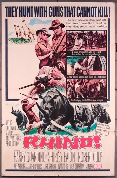 RHINO! (1964) 715 MGM Original One-Sheet Poster (27x41) Folded  Good Condition