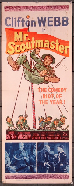 MISTER SCOUTMASTER (1953) 27537 20th Century Fox Original Insert Card (14x36)  Good Condiiton